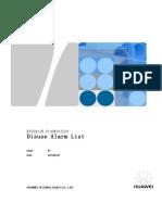 BTS3911E V100R012C00 Node Disuse Alarm List 01(2016-06-30)