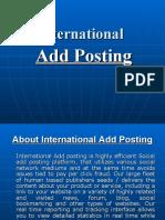 International Add Posting