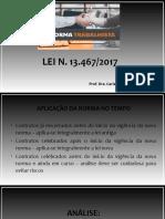 REFORMA TRABALHISTA -