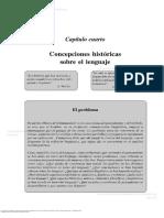 Capítulo Cuarto Concepciones Históricas Sobre El Lenguaje
