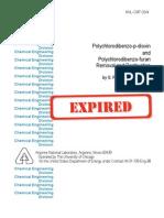 Polychlorodibenzo-p-dioxin& Furans Removal and Destruction