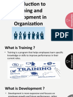 Training and Development in an Organization