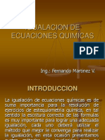 Igualacion de Ecuaciones Quimicas