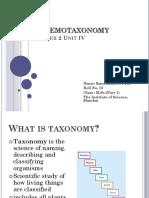 Chemotaxonomy 13 Dec
