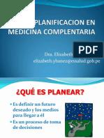 Planificacion en Medicina Complentaria