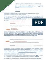 Instructivo Para La Postulacion a Los Procesos de Convocatorias Cas