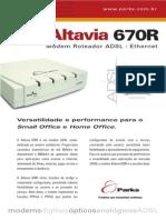 Parks Altavia 670R Manual