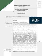 Modelo Pedagógico Dialogo Critico
