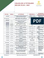 007. Cronograma de Actividades -Julio - 2015