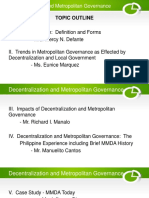 Decentralization and Metropolitan Governance