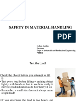 Safe Lifting Material Handling