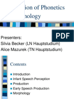 Acquisition of Phonology Morphology