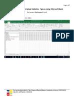 How to Make Descriptive Stats
