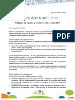 Comunicado N-3 Protocolo de Entrada y Salida 2019-1-11422477