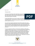 Zlatuška - rezignační dopis