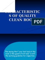 Characteristics of Quality Clean Room