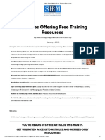 Web Sites Offering Free Training Resources