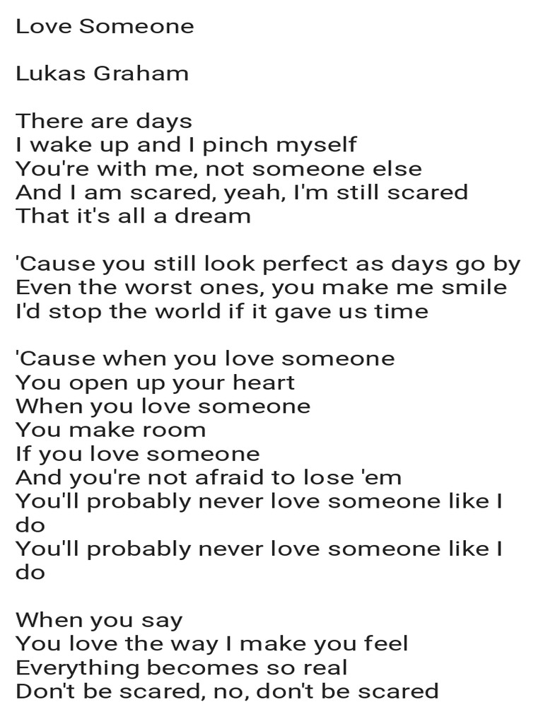Never loved someone like i do