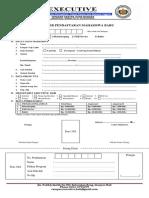 Formulir Pendaftaran Mahasiswa Baru