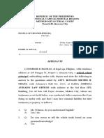 Judicial Affidavit Badillo