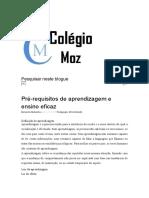 Pré-requisitos de aprendizagem e ensino eficaz - Colégio-moz.pdf