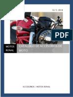 Catalogo de Accesorios Moto Dolares