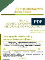Tema 2 Modelos de Orientacion y Asesoramiento Psicologico