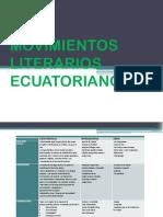 Movimientos Literarios Ecuatorianos