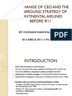The Change of Ceo and the Turnaround Strategy of Continental Airlines