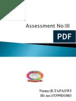 Tapaswi Assessment 3