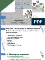 Parenteral PPT (Part-3)