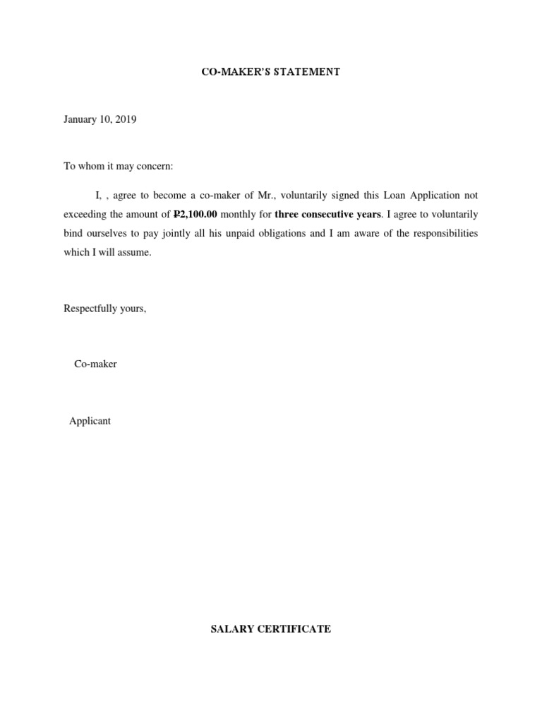 How to write a co maker letter obama essay