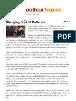 Changing Forklift Batteries