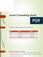 Speaking Test Procedure