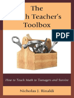The Math Teacher's Toolbox