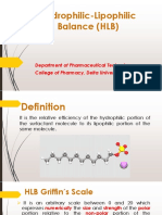 Physical Pharmacy_Hydrophilic-Lipophilic Balance