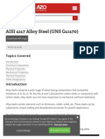 Aisi 4147 Alloy Steel (Uns g41470)