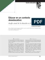 Educar en Un Contexto Deseducativo_ARTICULO