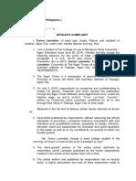 Affidavit of Complaint - Mike