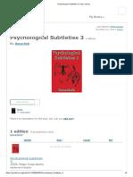 Psychological Subtleties 3 _ Open Library
