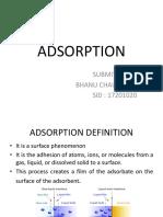 Adsorption by Bhanu