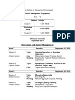 2. SMP - Weekend Schedule September 2018