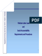 Pakistan Labor Laws and Social Accountability