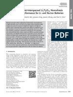 MoS2 Quantum Dot Interspersed Li4Ti5O12 Nanosheets With Enhanced Performance for Li- And Na-ion Batteries