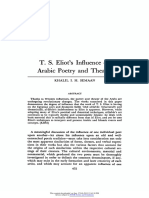 T. S. Eliots Influence on Arabic Poetry and Theatre 1