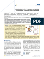 Impact of Mg-doping Site Control in the Performance of Li4Ti5O12 Li-ion Battery Andoe - First Principles Predictions and Experimental Verifications