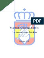 Manual Arbitraje Sófbol  (FP) RFEBS - 2018