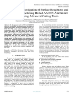 Experimental Investigation of Surface Roughness and Tool Wear of Machining Rolled AA7075 Aluminium  Alloy Using Advanced Cutting Tools