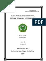 Resume Psikodiagnostik