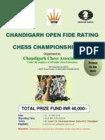 0 Chandigarh Open Fide Rating Money Chess Championship 2019